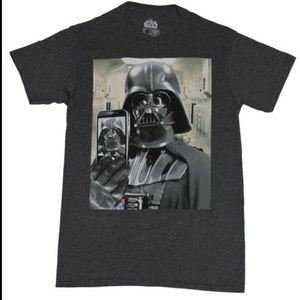 NWOT Star Wars Darth Vader Selfie T Shirt Retro